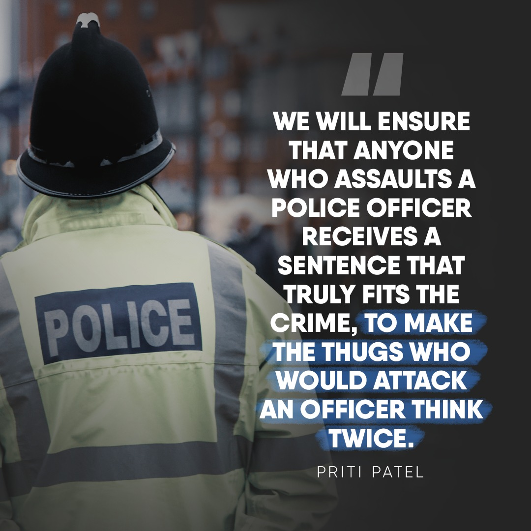 Anyone who assaults a police officer must get a sentence that fits the crime
