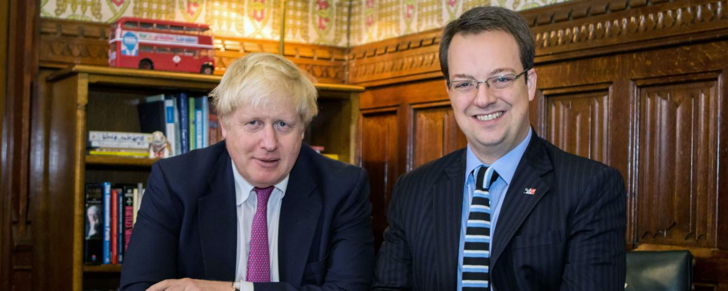 Mike meets with Boris Johnson in his office in the House of Commons