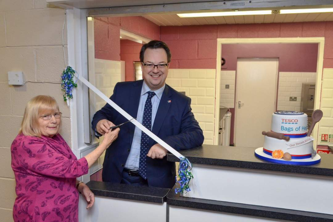 With Floss Jepson, opening the new kitchen at Wordsley Community Centre