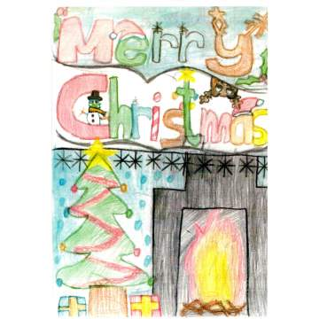 Christmas card entry - Jesvin Jeyarajan, Year 6, from Netherton Church of England Primary School