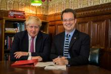 Meeting with Boris Johnson in Parliament