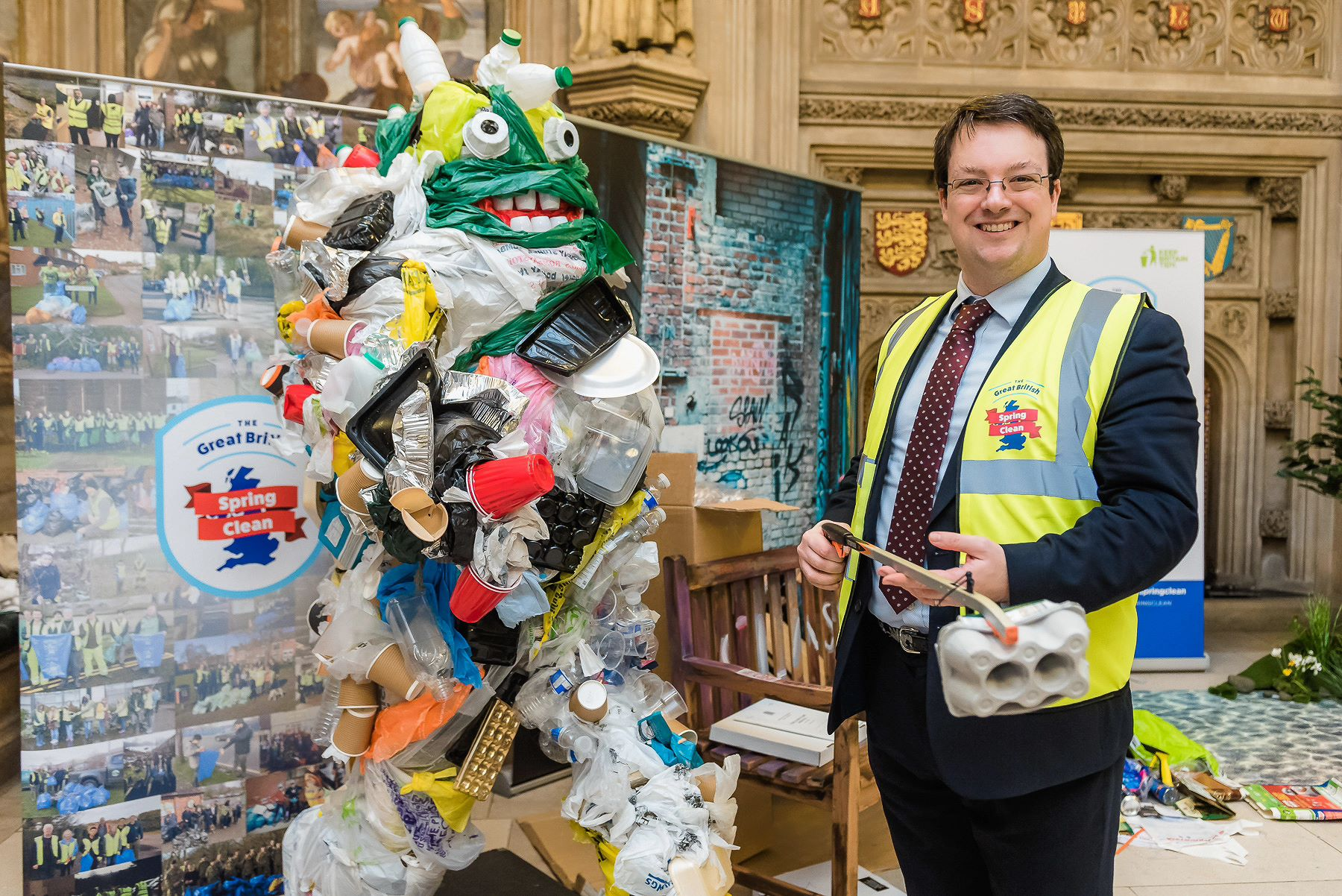 Supporting the launch of the Great British Spring Clean with the Keep Britain Tidy campaign