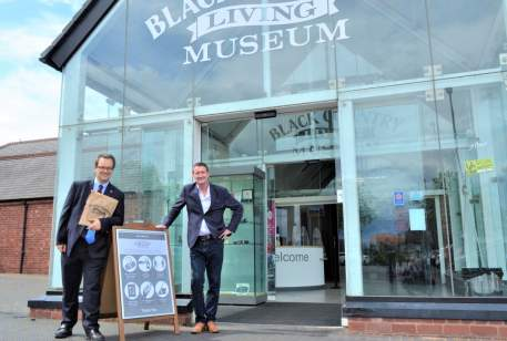 Mike Wood at Black Country Living Museum with Andrew Lovett, BCLM CEO
